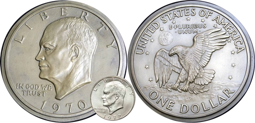 Eisenhower Dollar Galvano: US Mint Begin Using Galvanos In 1836