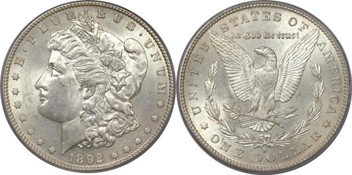 AU58 Morgan Silver Dollar Grade Image