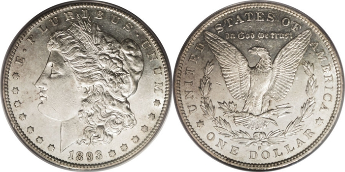 AU55 Graded Morgan Silver Dollar Image