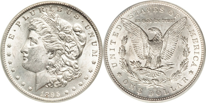 MS60 Grade Morgan Silver Dollar Image