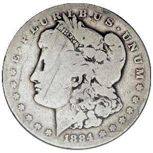 1884 One Dollar Silver Eagle Coin American Eagle Silver