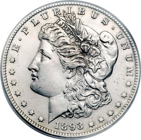 1893-S Tooled Morgan Silver Dollar
