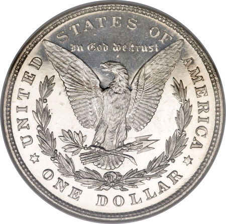 1878 8TF Morgan Dollar Reverse