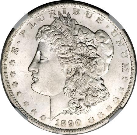 1890-O Morgan Dollar NGC MS66