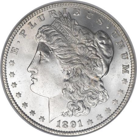 1891 Morgan Dollar NGC MS66