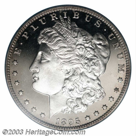 1895 Morgan Dollar is the most rare Morgan Silver Dollar minted
