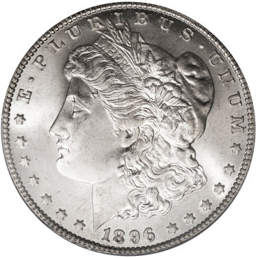 1896-O Morgan Dollar very rare in AU and Mint State grades