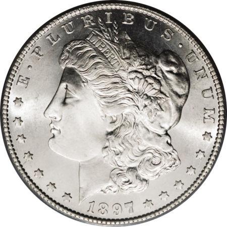 1897-S Morgan Dollar Obverse