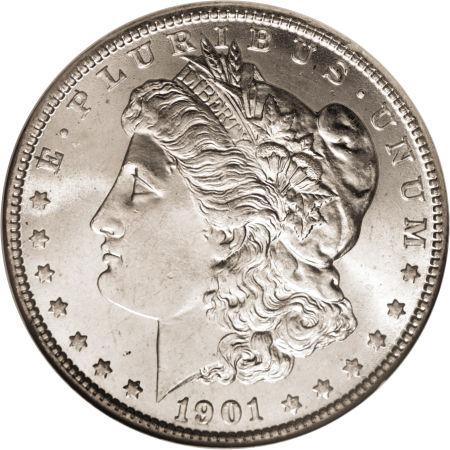1901-O Morgan Dollar obverse