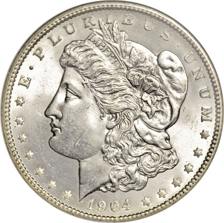 1904 Morgan Dollar obverse