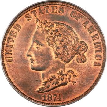 1874 $10 Bickford Ten Dollar, Judd-1374, Pollock-1519, R.6