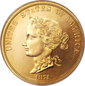 1874 $10 Bickford Ten Dollar, Judd-1375, Pollock-1520