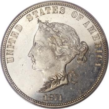 1874 $10 Bickford Ten Dollar, Judd-1377