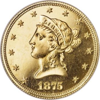 1875 $10 Ten Dollar, Judd-1447, Pollock-1592, R.8