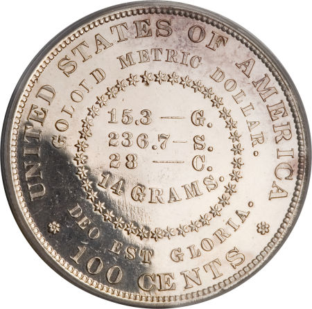 1879 goloid 100 cents crossword