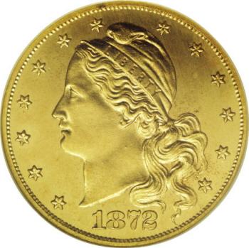 1872 $5 Barber's Amazonian Head Half Eagle, Judd-1241