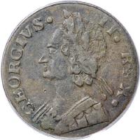 1747 Machin Mills Halfpenny Georgivs/Britannia - Imitation British Halfpence