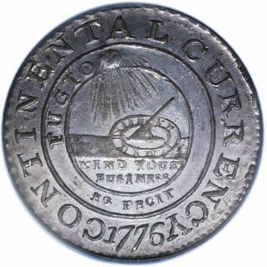 1776 Continental Dollar, CURRENCY, Pewter, EG FECIT
