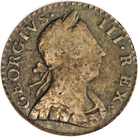 1776 Machin Mills Halfpenny Georgivs/Britannia - Imitation British Halfpence