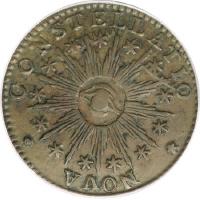 1783 Nova Constellatio, Copper, Pointed Rays, Large U.S