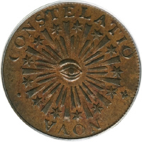 1783 Nova Constellatio, Copper, Blunt Rays