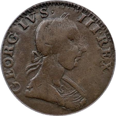 1784 Machin Mills Halfpenny Georgivs/Britannia - Imitation British Halfpence