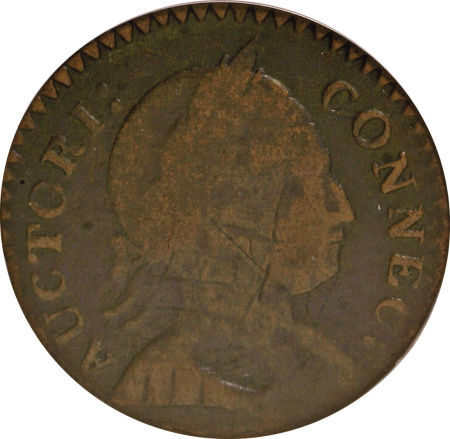 1786 Large Head Right Connecticut