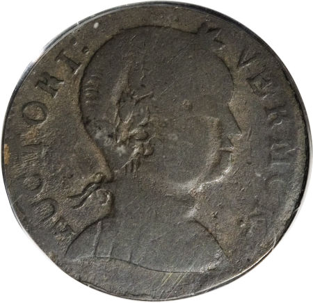 1786 Vermont Copper, Baby Head