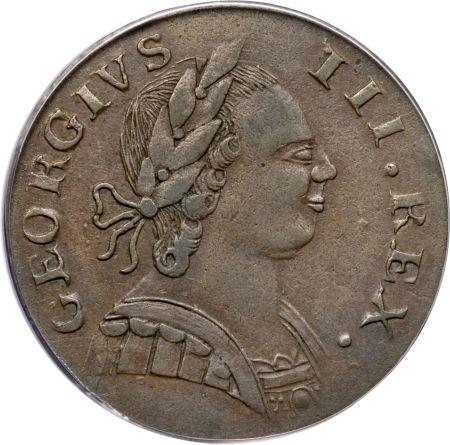 1787 Machin Mills Halfpenny Georgivs/Britannia - Imitation British Halfpence