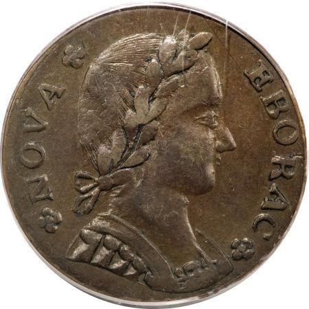 1787 Nova Eborac Copper, Seated Left