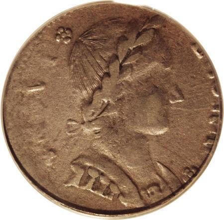 1787 Nova Eborac Copper, Seated Right