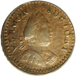 1787 Vermont Copper, Bust Right