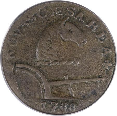 1788 New Jersey Copper, Running Fox