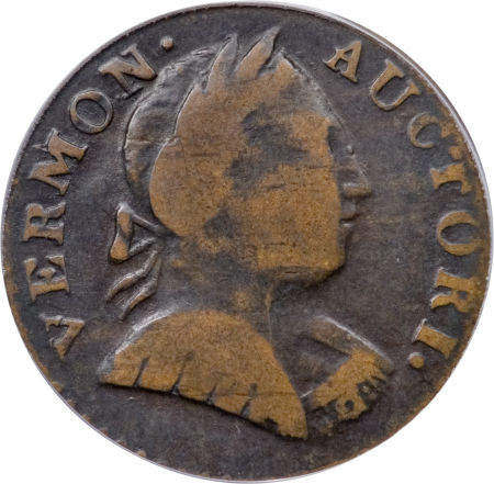 1788 Vermont Copper, Bust Right