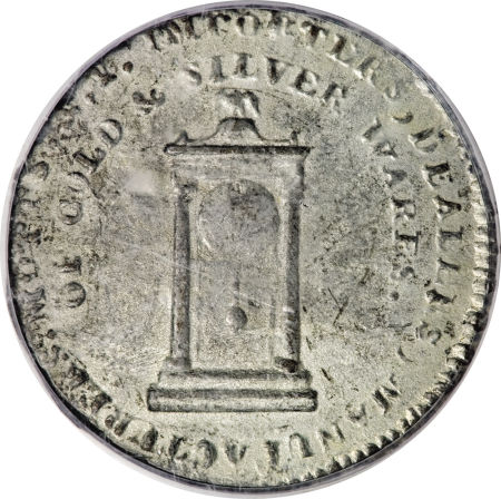1789 Mott Token, White Metal