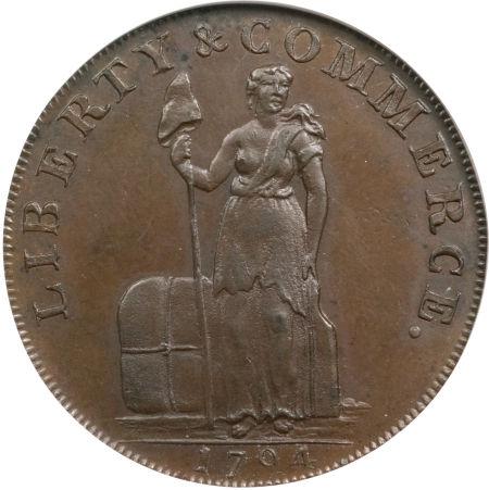 1794 half Penny Talbot, Allum & Lee Cent-1793 Birmingham Halfpenny Mule
