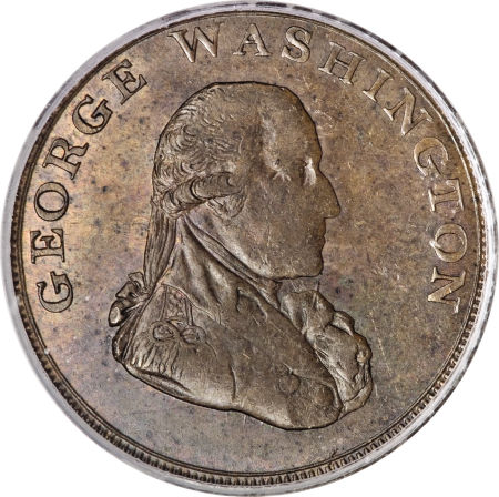 1795 Washington Liberty & Security Halfpenny, LONDON Edge