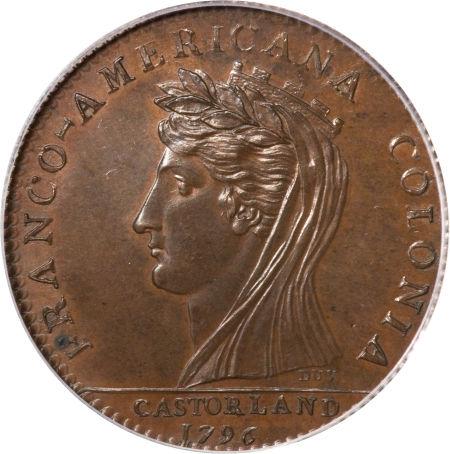 1796 Bronze, Castorland Medal