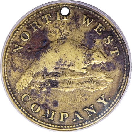 North West Company Token 1820 Us Post Colonial Values Images