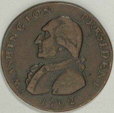 Electrotype of 1792 Washington-Hancock Pattern Cent