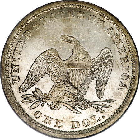 1841 Seated Liberty Dollar Coin Value Facts
