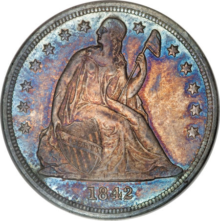 1842 Seated Liberty Dollar Coin Value Facts