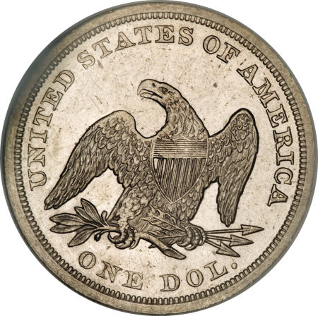 1845 Seated Liberty Dollar Coin Value Facts