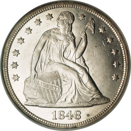 1848 Seated Liberty Dollar