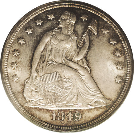 1849 Seated Liberty Dollar Coin Value Facts