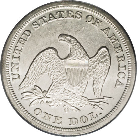 1850 O Seated Liberty Dollar Coin Value Facts