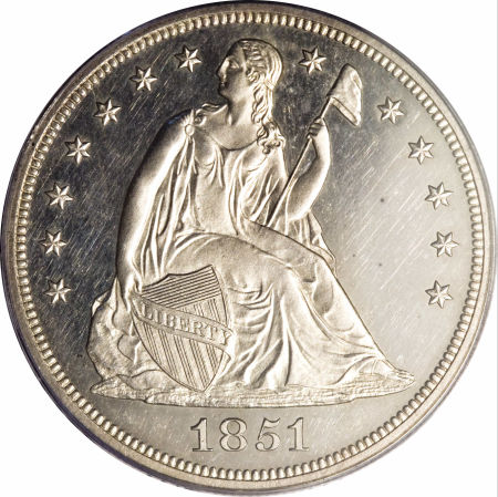 1851 Seated Liberty Dollar