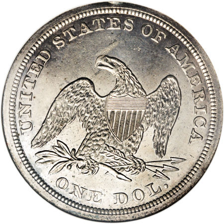 1852 Seated Liberty Dollar Coin Value Facts