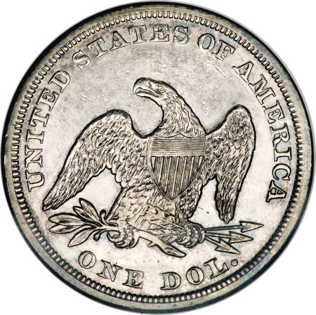 1856 Seated Liberty Dollar Coin Value Facts