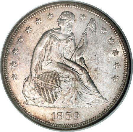 1859 Seated Liberty Dollar